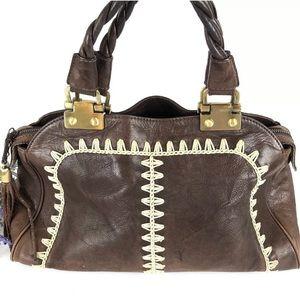 Vintage RAFE brown leather handbag satchel